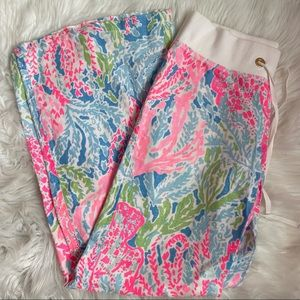 Lilly Pulitzer Linen Coral Beach Pants- Small